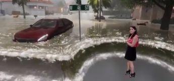 L'impressionnante simulation de tempête d'une chaîne de télévision américaine