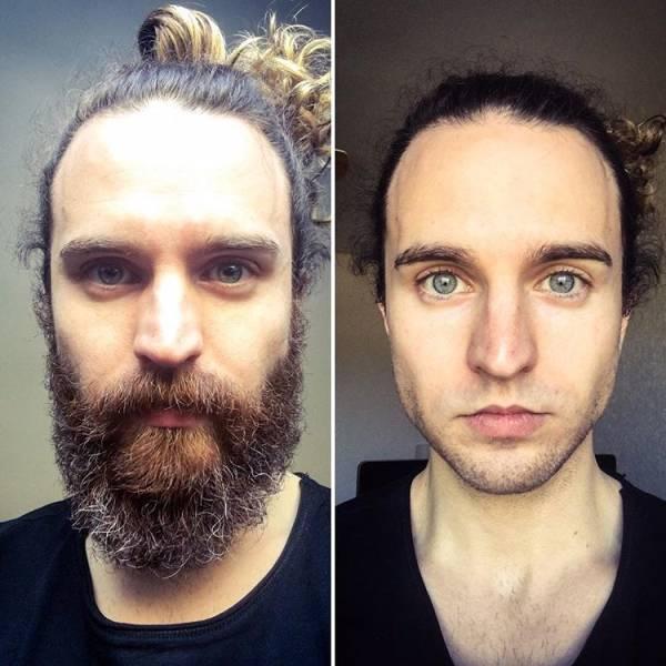 les meilleurs contrastes photographiques des hommes avec et sans barbe. Black Bedroom Furniture Sets. Home Design Ideas