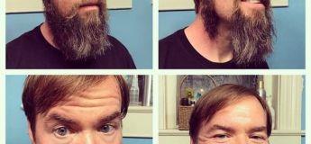 Les meilleurs contrastes photographiques des hommes avec et sans barbe