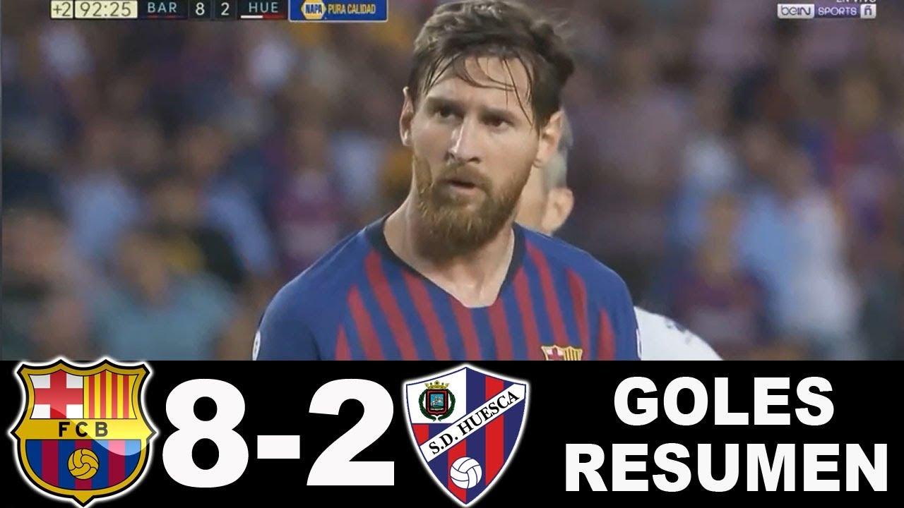 r u00e9sum u00e9 du match fc barcelone huesca 8-2