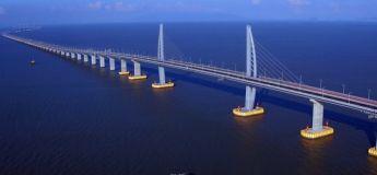La Chine réalise le plus long pont maritime au monde reliant Hong-Kong, Zhuhai et Macao