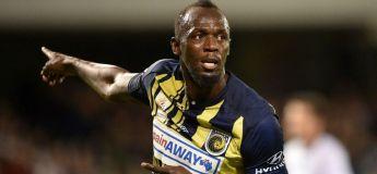 Les buts gags d'Usain Bolt pour son doublé lors de son premier match de foot pro (vidéo)