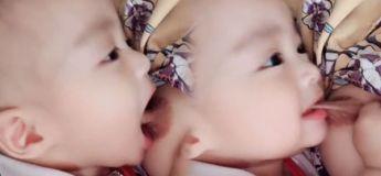 Un bébé mord violemment les mamelons de sa maman pendant l'allaitement