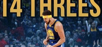 Klay Thompson : ses 14 paniers à 3pts (record NBA)