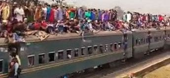 Bangladesh : Les usagers quotidiens qui voyagent sur le toit des trains
