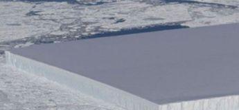 Un étrange iceberg rectangulaire et massif a été découvert en Antarctique par la NASA
