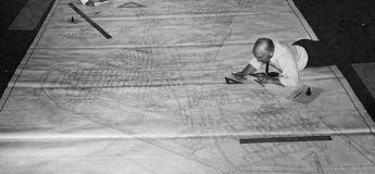 Le travail des dessinateurs avant l'existence d'AutoCAD, en images