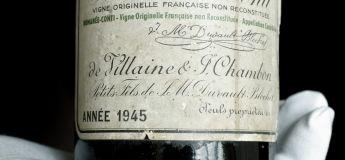 Romanée-Conti millésime 1945 : la bouteille de vin la plus chère de l'histoire aux États-Unis