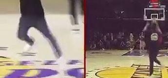 Un fan des Lakers gagne 30 000 $ avec un lancer à la mi-temps et foire sa célébration en voulant célébrer avec les joueurs
