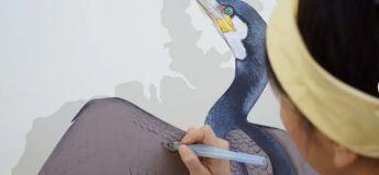 La nouvelle peinture murale épique pour oiseaux et le livre richement détaillé du Corneille