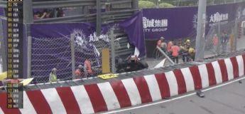 Le violent crash de Sophia Floersch en s'envolant dans le mur du GP de Macau (Formule 3)