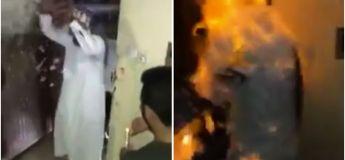 Ses amis fêtent son retour de prison et ils l'incendient par accident