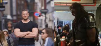 Un des plus grands bodybuildeurs se déguise et sort en public !