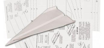 Un avion en papier volant (polystyrène) de 122 cm « super dimensionné »