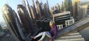 Ce Russe frôle la mort à plusieurs reprise sur ses cascades de gratte-ciels