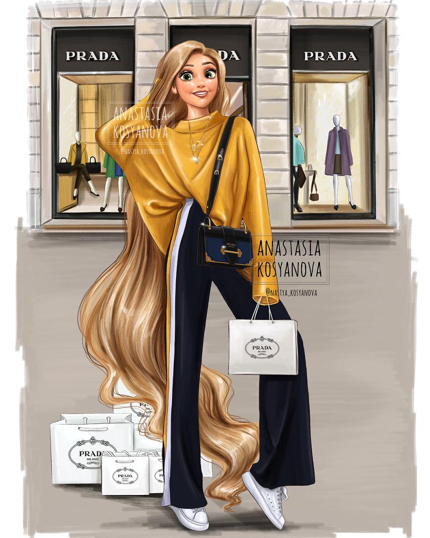 Comment seraient les princesses Disney si elles portaient des marques de luxe d'aujourd'hui?