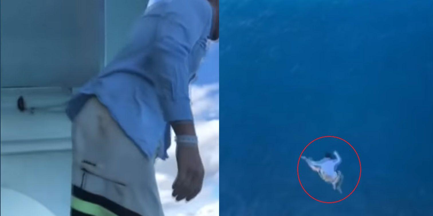 Il saute du 11ème étage du navire et se fait interdire à vie par la compagnie de croisière