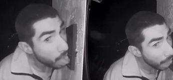 Vidéo : un homme filmé par la caméra de surveillance en train de lécher la sonnette d'une maison pendant 3 heures