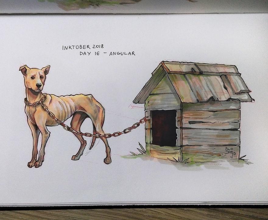 Un artiste décide de peindre la souffrance des animaux