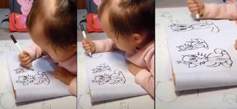 Elle est encore un bébé, mais elle dessine mieux que nous tous