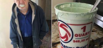 Ce grand-père de 90 ans a avalé un demi-litre de peinture en pensant que c'était du yaourt