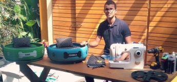 Un Brésilien transforme les vieux pneus jetés au rebut en des choses utiles