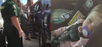 Un groupe de prisonniers ont sauvé un bébé qui a été accidentellement enfermé dans une voiture
