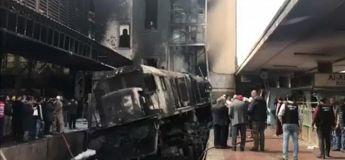 Vidéo de l'accident de train qui a fait 25 morts et 50 blessés dans l'horrible  dans la gare du Caire en Égypte