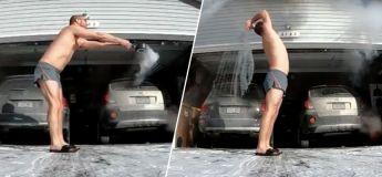 Cet homme rate complètement son lancer d'eau bouillante d'un froid glacial