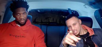 Joel Embiid et Steph Curry sont dans une voiture (à 5 minutes de la maison)