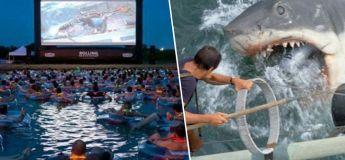 Regarder le film «Les Dents de la mer» sur un écran géant tout en flottant dans l'eau, ça vous dit ?