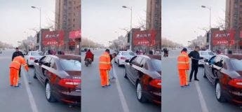 Chine : Il lui rejette sa poubelle dans sa voiture après que ce dernier l'ait jeté sur la route