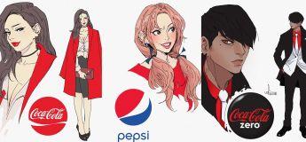 Un illustrateur brillamment recrée les marques de boissons gazeuses en des personnages