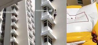 Vidéo : Ce pauvre garçon tombe du 17ème étage d'un immeuble à Singapour