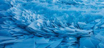 Découvrez ces images impressionnantes du lac Michigan avec ces morceaux de glace