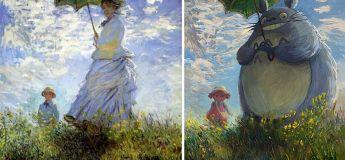 Un artiste reprend des peintures classiques en œuvre d'art plus moderne