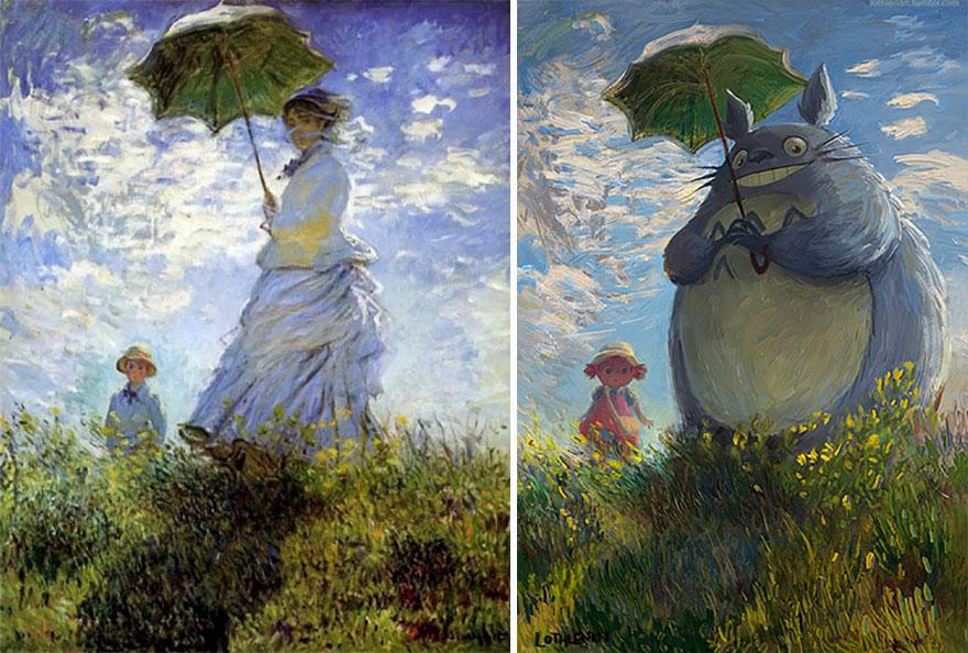 Un artiste reprend des peintures classiques en œuvre d'art plus moderne - Tuxboard