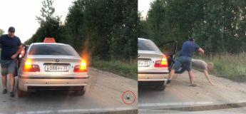 Ce chauffeur de taxi russe jette un passager de sa voiture sur terre pour avoir jeté une bouteille vide de la fenêtre