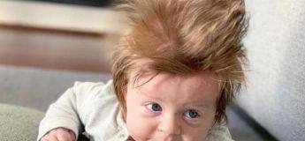 Ce bébé a une chevelure tellement incroyable qu'il attire tous les regards