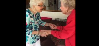 Cette mamie de 95 ans reçoit une belle surprise pour son anniversaire : sa meilleure amie d'enfance !