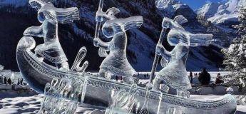 De superbes sculptures de neige et de glace qui sont malheureusement éphémères