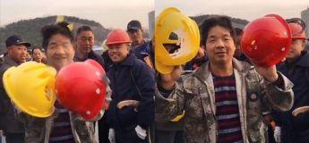 La Chine est en colère à cause de cette vidéo montrant la mauvaise qualité des casques portés par les travailleurs en construction