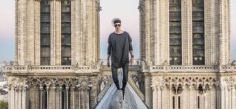 Ce grimpeur se filmait sur le toit de Notre Dame, des images spectaculaires et inédites