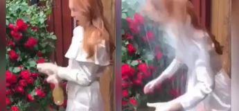 Une bouteille de champagne s'explosait dans le visage de cette pauvre fille alors qu'elle essayait de l'ouvrir