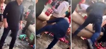 Cette vidéo des fans de Liverpool se moquant des locaux en Barcelone et les poussant dans la fontaine est devenue virale