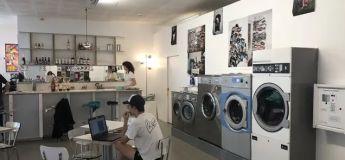 Un café qui sert à la fois de laverie et de galerie d'art a ouvert ses portes à Nantes