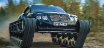 Une Bentley transformée en char d'assaut en Russie