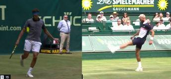 Quand Benoît Paire et Jo-Wilfried Tsonga jouent au foot en plein match de tennis