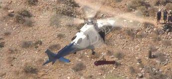 Le sauvetage par hélicoptère d'une femme de 74 ans devient effrayant lorsque le brancard tourne sur lui-même