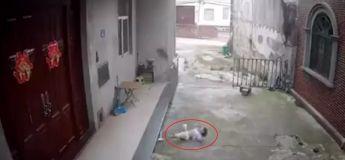 Un petit garçon tombe d'un balcon et personne de sa famille n'a été au courant